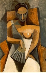 Seated Woman Holding a Fan, Pablo Picasso