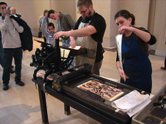 The earliest existing printed artworks on paper were created in this culture.