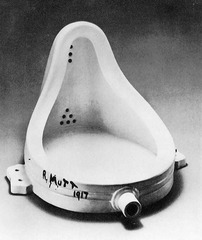 This artist took a urinal, turned it on its side, made some other slight alterations, and presented it as an art object titled Fountain.