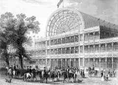 This cast-iron building was designed by Sir Joseph Paxton for the Great Exhibition of 1851, and was more than a third of a mile long.