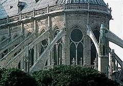 This feature of Gothic architecture allowed the weight of the ceiling to be transferred away from the walls so that larger windows could be built.