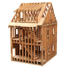 This nineteenth-century North American construction method uses lightweight wooden frames, instead of heavy timbers, to support the building.