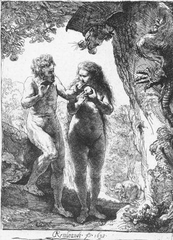 This seventeenth-century Dutch artist was a master of etching and used it to depict Adam and Eve as well as other religious subjects.