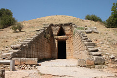 This type of arched span was first used in ancient Babylon and Mycenae.
